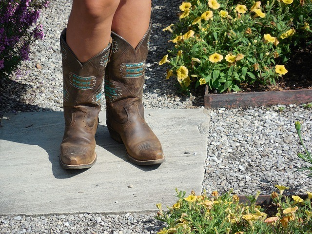 brown cowboy boots repair