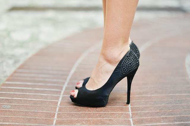black heel shoes repair